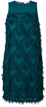MICHAEL Michael Kors feather patterned dress