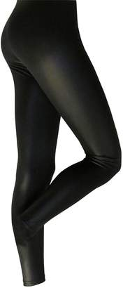 Silky Womens/Ladies Leather Look Fashion Leggings (1 Pair)