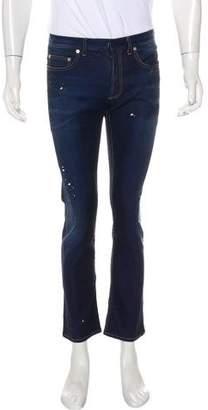 Christian Dior Paint Splatter Slim Jeans