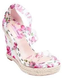 Betsey Johnson Fraser Floral Wedge Sandals