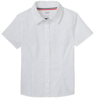 French Toast Collar Neck Short Sleeve Cap Sleeve Blouse Girls
