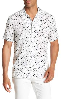 Toscano Short Sleeve Splatter Print Woven Shirt