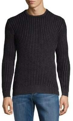 John Varvatos Classic Elbow-Patch Cotton Linen Sweater