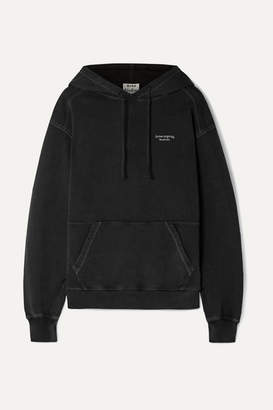Acne Studios Weny Embroidered Cotton-jersey Hoodie - Black