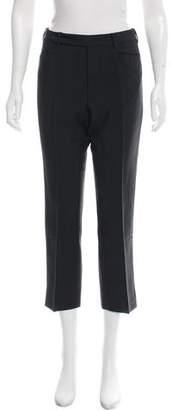 Prada Mid-Rise Mohair-Blend Pants