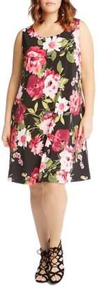 Karen Kane Plus Chloe Floral-Print Tank Dress
