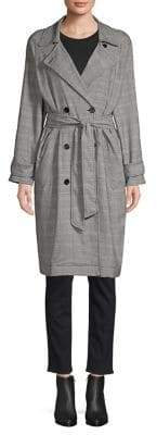 Joie Damonica Plaid Trench Coat