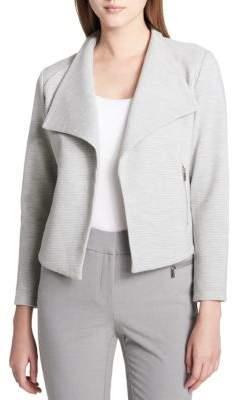 Calvin Klein Textured Open-Front Jacket