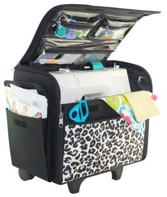Everything Mary Cheetah Rolling Sewing Machine Case, 1 Each
