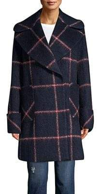 KENDALL + KYLIE Oversize Windowpane Coat
