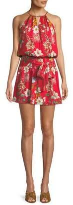 Parker Larissa Sleeveless Floral-Print Silk Dress