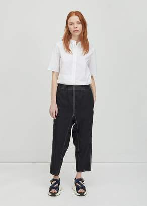 MM6 MAISON MARGIELA Structured Canvas Pants Black