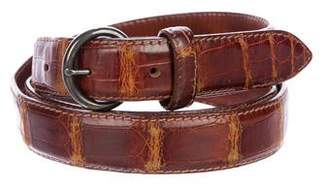 Ralph Lauren Crocodile Skinny Belt