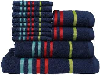 Casa Copenhagen Exotic Cotton 475 GSM 12 Pieces Designer Bath, Hand & Washcloth Towels Gift Set