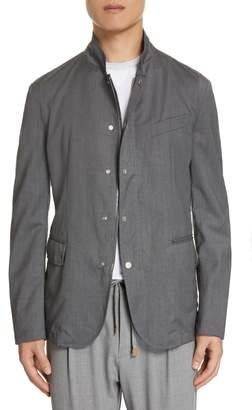 Eleventy Full Zip Snap Jacket