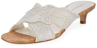 Donald J Pliner Elly Metallic Kitten-Heel Mule Sandal