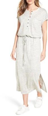 Women's Caslon Linen Knit Midi Dress $69 thestylecure.com