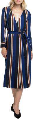ASTR the Label Stripe Wrap Dress