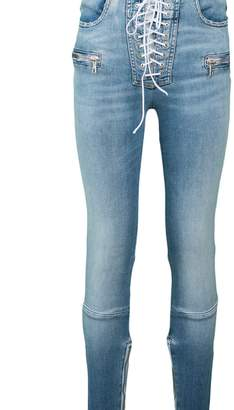 Ben Taverniti Unravel Project Lace Up Front Skinny Jeans