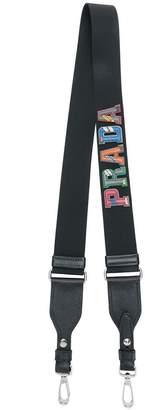 Prada varsity logo bag strap