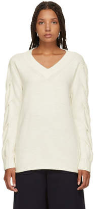 See by Chloe White V-Neck Sweater