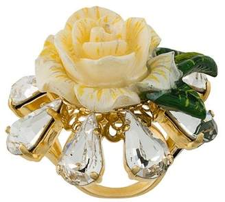 Dolce & Gabbana crystal rose ring