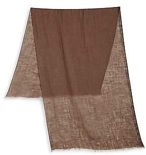 Brunello Cucinelli Men's Solid Linen & Silk Scarf