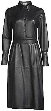 Equipment Women's Orelie Leather Shirtdress - Size 0