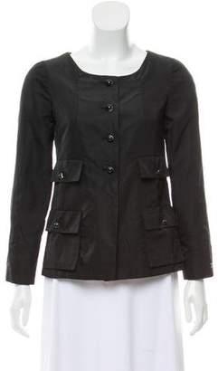 Chanel Silk Button-Up Jacket