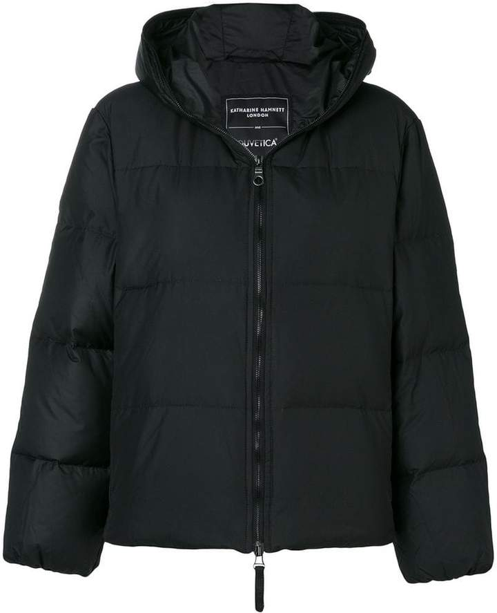 front zip puffer jacket
