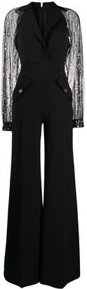 Elisabetta Franchi sheer sleeve jumpsuit