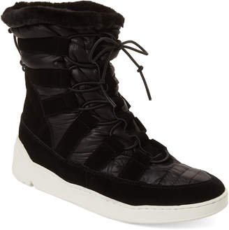J/Slides Black Jordy Suede Lace Up Snow Boots