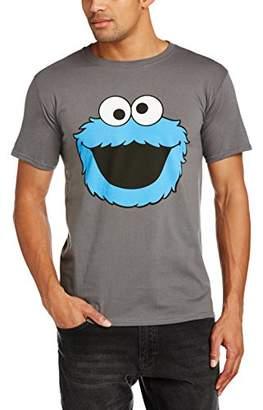 Sesame Street Men's Cookie Head Short Sleeve T-Shirt