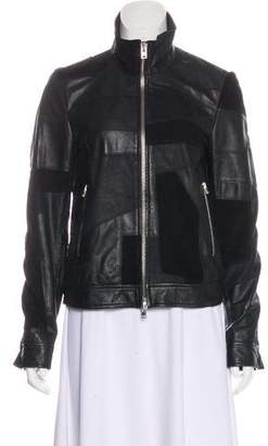 Closed Patchwork Leather Jacket