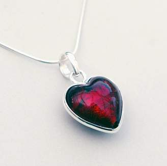 Glass Heart Claudette Worters Murano Christmas Red Pendant