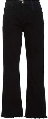 Current/Elliott The Kick Stretch-Denim Cropped Jeans