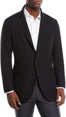Loro Piana Men's Houndstooth Two-Button Soft Jacket