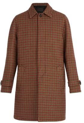 Prada Checked Virgin Wool Coat - Mens - Multi