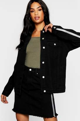 boohoo Tall Embellished Denim Oversized Jacket