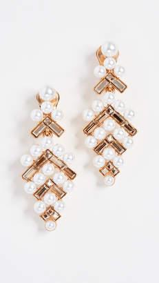 Oscar de la Renta Baguette Imitation Pearl Earrings