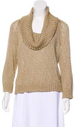 St. John Rib Knit Turtleneck Sweater