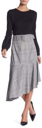 Romeo & Juliet Couture Belted High Waist Plaid Skirt