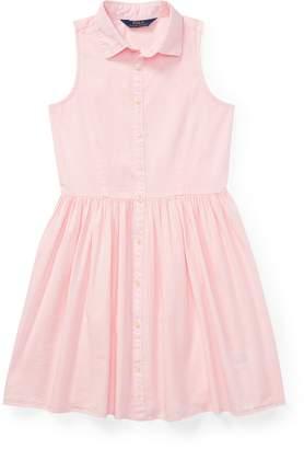 Ralph Lauren Sleeveless Poplin Shirtdress