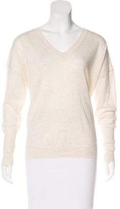 Nili Lotan Melangé V-Neck Sweater