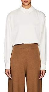 ROUCHA Women's Button-Back Charmeuse Blouse - White