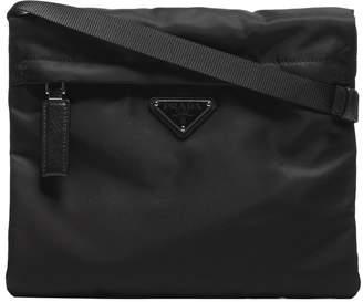 Prada Logo Patch Shoulder Bag