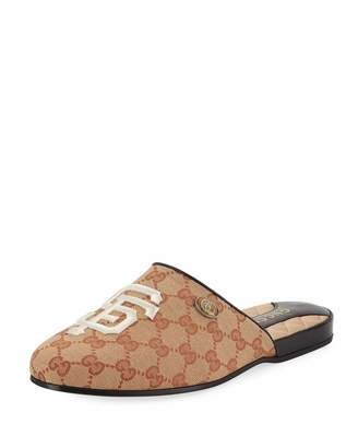 Gucci Original GG Slippers with SF Giants MLB Patch