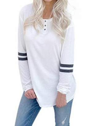 Lovaru Striped Autumn Long Sleeve Casual T-shirt Tops