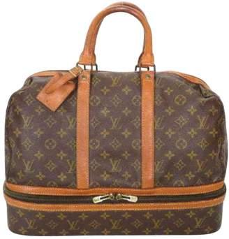 Louis Vuitton Vintage Brown Cloth Travel Bag