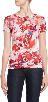 Karen Millen Floral Mixed Media Tee